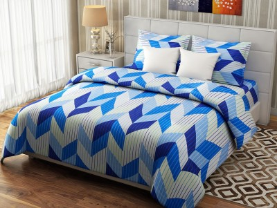 Desi Connection Cotton Geometric Double Bedsheet