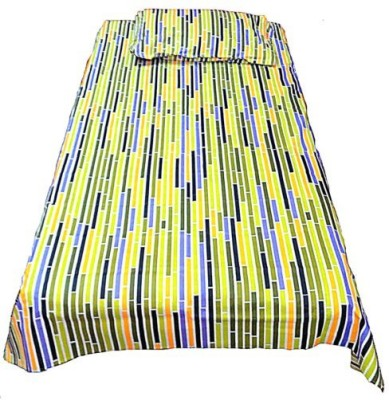 Addyz Cotton Striped Single Bedsheet