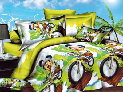 Balaji Creations Polycotton Cartoon Double Bedsheet