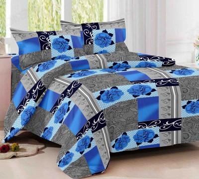Jiya Decor Cotton Floral Double Bedsheet