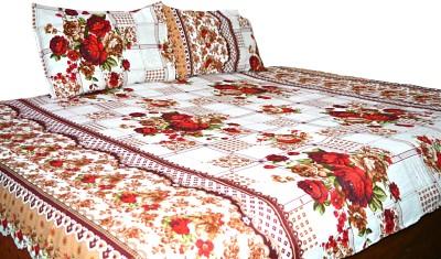 NIVRATI Polyester Floral Single Bedsheet