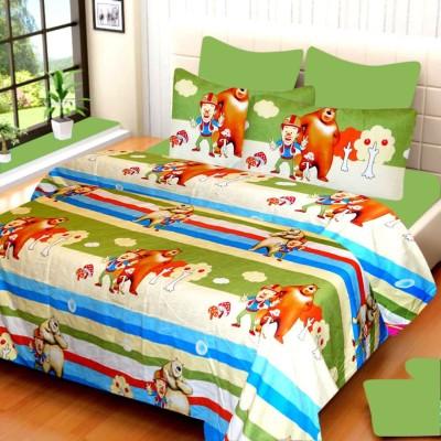 YashnaDecor Polycotton Cartoon Double Bedsheet