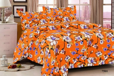 Living Décor Cotton Floral Double Bedsheet