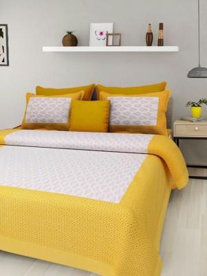 Jaipur print Cotton Printed Double Bedsheet