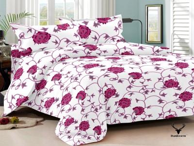 NumBrave Cotton Floral Double Bedsheet
