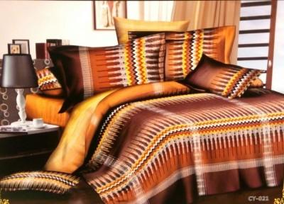 Night Gold Polycotton Geometric Double Bedsheet