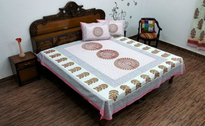 Ethnic Rajasthan Cotton Paisley Double Bedsheet