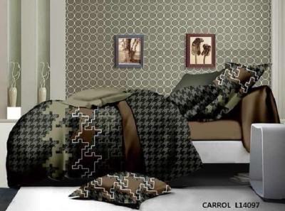Cosy Polycotton Geometric Double Bedsheet