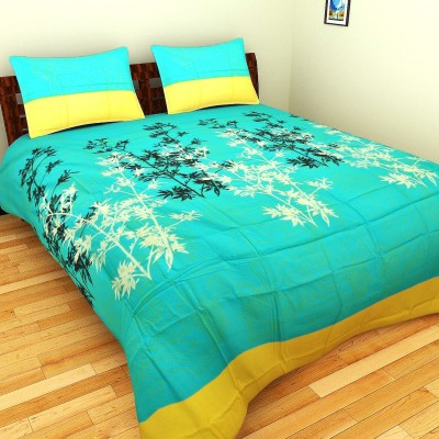Splash Cotton Printed Double Bedsheet