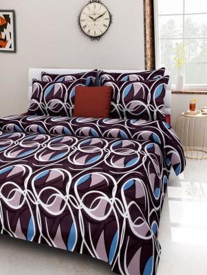 Rose Petal Polycotton Printed Double Bedsheet