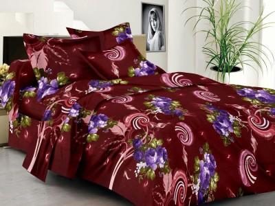 NH Cotton Goldstar Satin Geometric King sized Double Bedsheet
