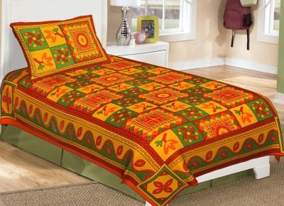 Metro Living Cotton Printed Single Bedsheet