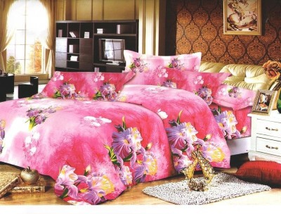 Stylistry Polycotton Plain Queen sized Double Bedsheet