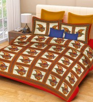 Metro Living Cotton Printed Double Bedsheet(1 Double Bed Sheet, 2 Pillow Covers, Red) best price on Flipkart @ Rs. 399