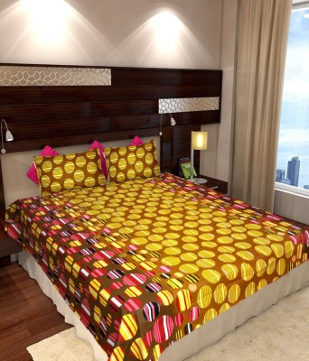 Cotton Geometric Double Bedsheet