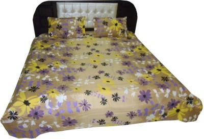 Satcap Cotton Floral Double Bedsheet