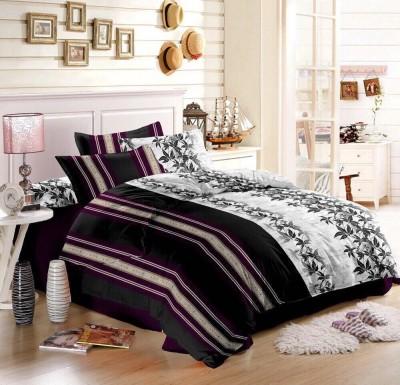 Shopcrats Polycotton Striped Double Bedsheet