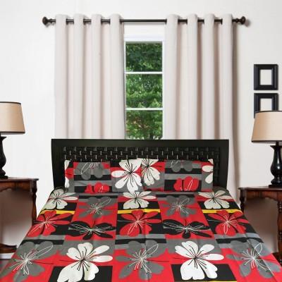 Finc Cotton Floral Double Bedsheet