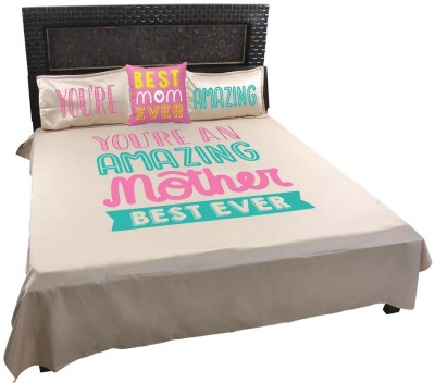Giftsmate Cotton Printed King sized Double Bedsheet