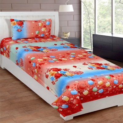 Mesmeric Polyester 3D Printed Single Bedsheet