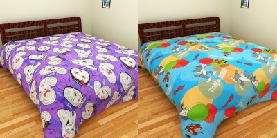 Portico Barbie Tom and Jerry Cotton Cartoon Double Bedsheet