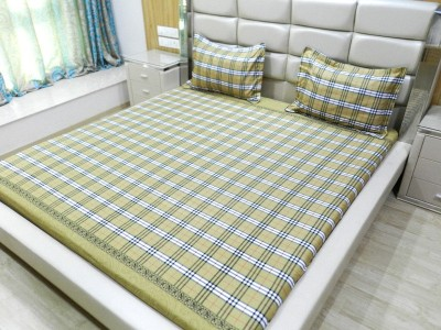 Gama Amor Cotton Striped King sized Double Bedsheet