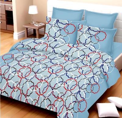 Vastra Buzz Cotton Geometric King sized Double Bedsheet