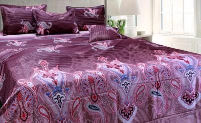 Angel Textile Cotton Floral Queen sized Double Bedsheet