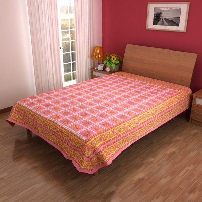 India Unltd Cotton Printed Single Bedsheet