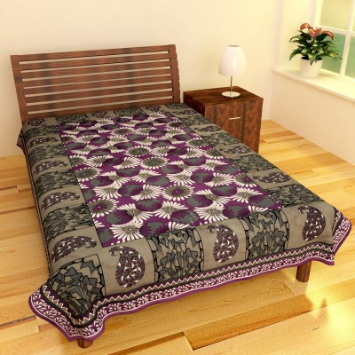 The Home Story Cotton Floral Single Bedsheet