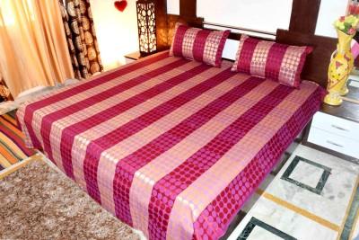 Hashcart Cotton Polka Double Bedsheet