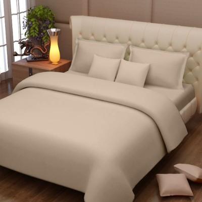 Queen Cotton Cotton Plain Double Bedsheet