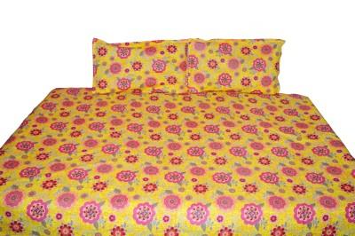 NIVRATI Cotton Floral Single Bedsheet