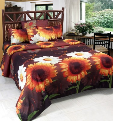 WONDER TEX INDIA Polyester Floral Double Bedsheet