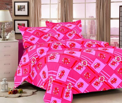 Jiya Decor Cotton Floral Double Bedsheet