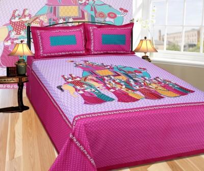 Creativezone Cotton Printed King sized Double Bedsheet