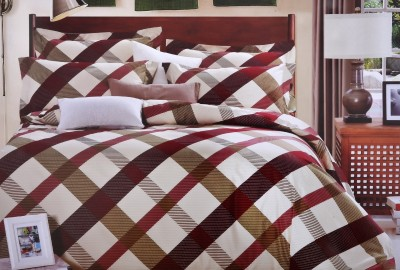 Shivalik Polycotton Striped Double Bedsheet