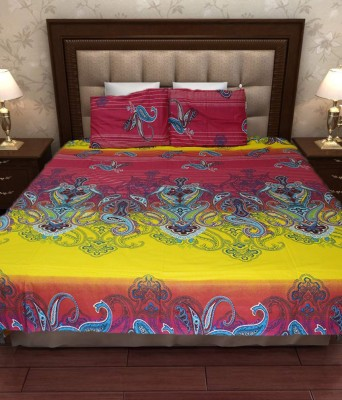 Home Fashion Gallery Cotton Abstract Double Bedsheet