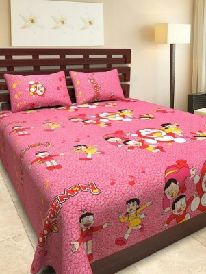 mahirfurnishing Cotton Cartoon Double Bedsheet