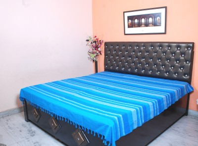 FLIER01 Cotton Striped Double Bedsheet