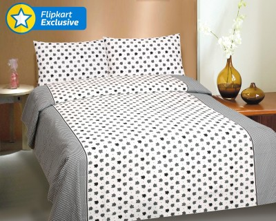 CURL UP Cotton Printed Queen sized Double Bedsheet