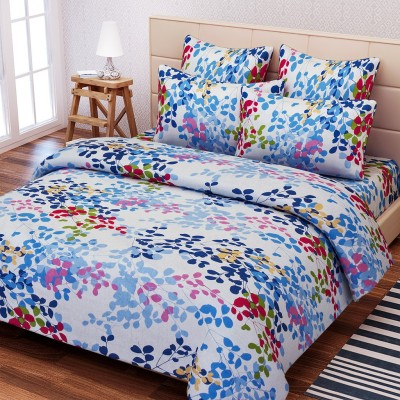 SEJ by Nisha Gupta Cotton Floral Double Bedsheet