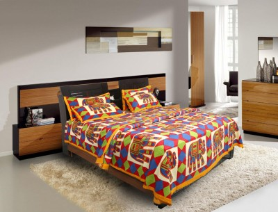 Figaro Cotton Printed Double Bedsheet