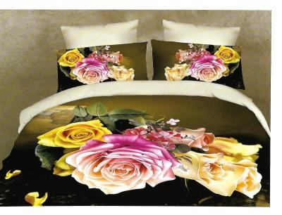 Sudesh Handloom Cotton Floral Queen sized Double Bedsheet