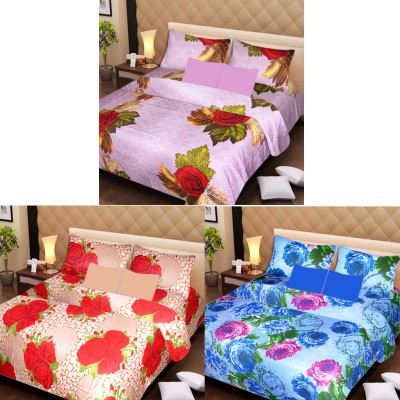 St Cotton Floral Double Bedsheet