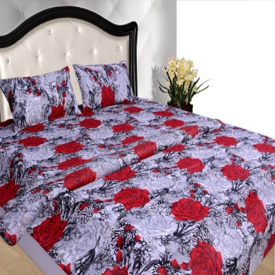 Creativezone Cotton Floral King sized Double Bedsheet