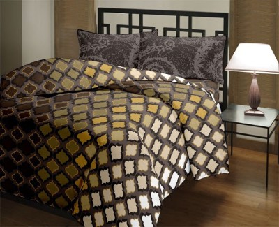 Trident Cotton Abstract Queen sized Double Bedsheet