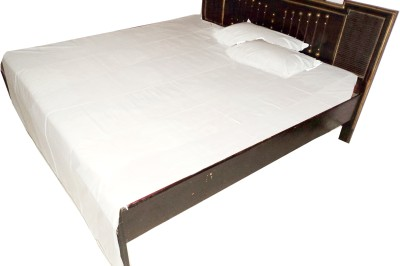 Jai Sati Kreation Cotton Plain Single Bedsheet