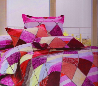 IndianOnlineMall Polycotton Floral Double Bedsheet