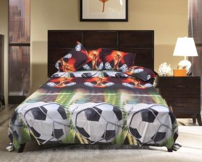 Brabuon Cotton Abstract Double Bedsheet